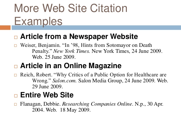 Bibliography Online Article